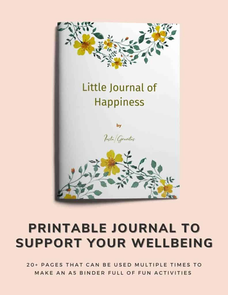 printable wellbeing journal to hep you get your life together