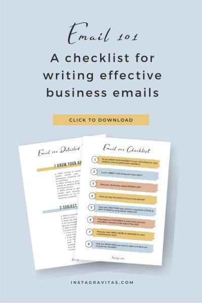Email Etiquette checklist Freebie1