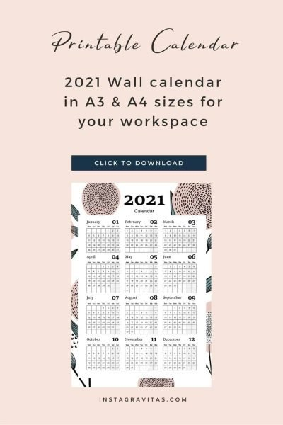 printable year at a glance wall calendar freebie 7